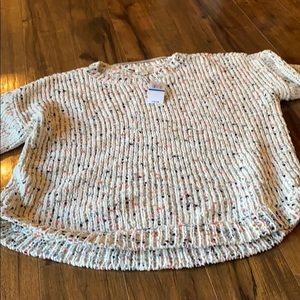 Cupio blush high low sweater size xL